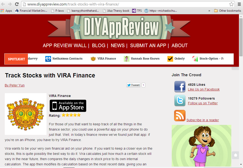 print screen of the DIY app review page
